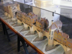 A model of the medieval London Bridge