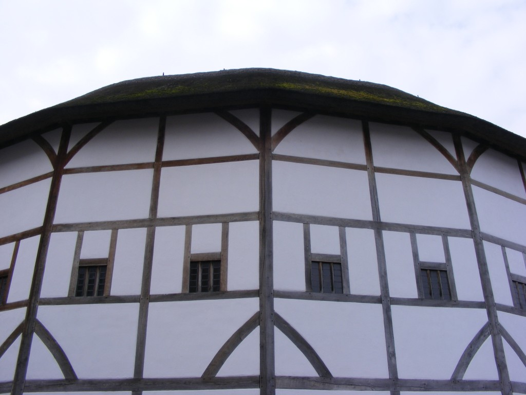 At Shakespeare's Globe.