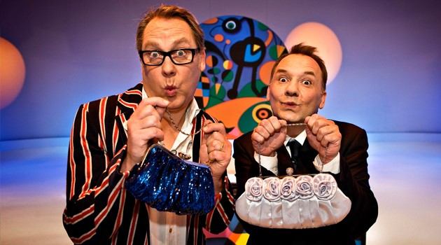 Vic Reeves and Bob Mortimer in Shooting Stars.
