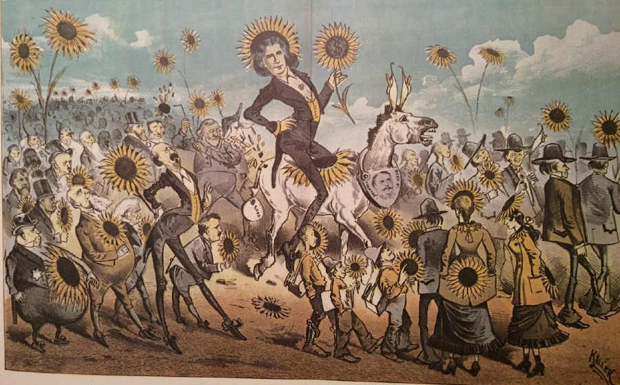 Oscar Wilde flamboyancy in picture form. Image from http://www.oscarwildeinamerica.org/features/the-modern-messiah.html