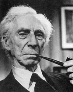 A pensive Bertrand Russell.